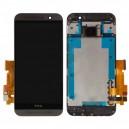 DISPLAY HTC PER ONE M9 COMPLETO DI TOUCH SCREEN E FRAME ORIGINALE COLORE NERO