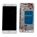 DISPLAY HUAWEI P8 LITE CON TOUCH SCREEN E FRAME COLORE BIANCO