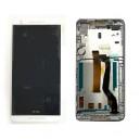 DISPLAY HTC FOR DESIRE 626 COMPLETO DI TOUCH SCREEN E FRAME ORIGINALE COLORE BIANCO