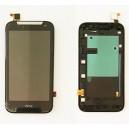 DISPLAY HTC PER DESIRE 310 COMPLETO DI TOUCH SCREEN E FRAME 129/MM ORIGINALE COLORE NERO