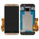 DISPLAY HTC ONE M9 COMPLETO DI TOUCH SCREEN E FRAME ORIGINALE COLORE ORO