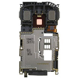 MIDDLE HOUSING CHASSIS NOKIA N95 8GB + COVER CAMERA + BUZZER, + ANTENNA + FLAT FLASH + PLUG IN CONNECTOR + FRAME CHASSIS