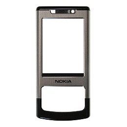 FRONT COVER NOKIA 6500s BLACK SILVER