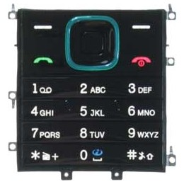 KEYPAD NOKIA 5000 BLACK WITH BORDER BLUE ORIGINAL