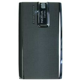 BATTERY COVER NOKIA E66 GREY STEEL ORIGINAL