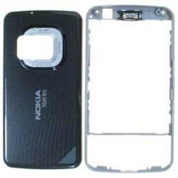 HOUSING COMPLETE ORIGINAL NOKIA N96 TITANIO/GREY (ONLY FRONT AND BATTERY COVER)