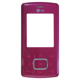 FRONT COVER ORIGINAL LG KG800 CHOCOLATE ROSA