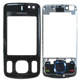 FRONT COVER NOKIA 6600s NERO WITH FRAME AND KEYPAD TOP ONE