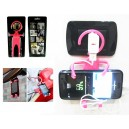 SILICONE SUPPORT FOR MOBILE PHONE COLOR PINK