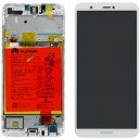 DISPLAY CON TOUCH SCREEN E FRAME HUAWEI P SMART ORIGINALE SERVICE PACK COLORE BIANCO