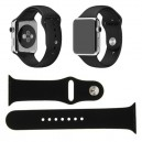 CINTURINO IN SILICONE APPLE WATCH CASSA 42MM SERIE 1 NERO