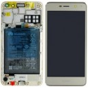 DISPLAY CON TOUCH SCREEN E FRAME HUAWEI NOVA YOUNG SERVICE PACK COLORE ORO