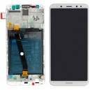 DISPLAY HUAWEI ASCEND MATE 10 LITE CON TOUCH SCREEN E FRAME COLORE BIANCO ORIGINALE SERVICE PACK