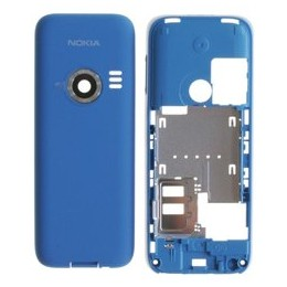 MIDDLE HOUSING + BATTERY COVER NOKIA 3500c AZURE
