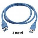 Prolunga USB 2.0 da 3MT AM/AF