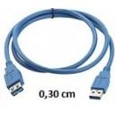 Prolunga USB 2.0 da 0,30cm AM/AF