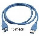 Prolunga USB 2.0 da 5mt AM/AF
