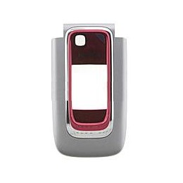 FRONT COVER NOKIA 6131 SILVER RED