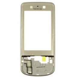 FRONT COVER NOKIA 6260s BURN SILVER