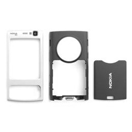 HOUSING COMPLETE ORIGINAL NOKIA N95 BLACK (FRONT SILVER, OTHER PARTS BLACK)