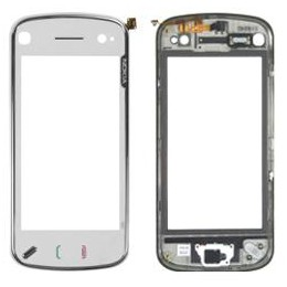 TOUCH SCREEN NOKIA N97 WITH FRONT COVER WHITE ORIGINAL