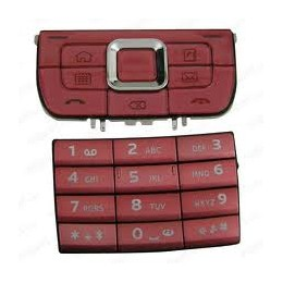 KEYPAD NOKIA E66 RED ORIGINAL
