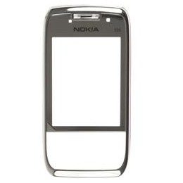FRONT COVER NOKIA E66 LENS RED FRAME STEEL