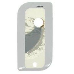 BATTERY COVER NOKIA 7610 SILVER/BRUSH