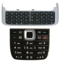 KEYPAD NOKIA E75 BLACK ORIGINAL