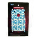 SKIN STICKERS PER APPLE IPHONE 3G, 3GS (1 SIDE) BLUE FLOWER