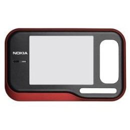 FRONT COVER NOKIA 6760s BLACK RED