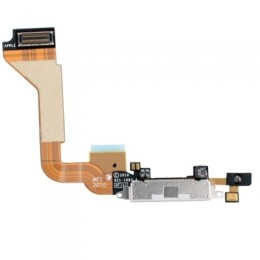 FLAT CABLE APPLE IPHONE 4 WITH PLUG-IN CONNECTOR WHITE ORIGINAL