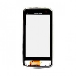 TOUCH SCREEN NOKIA C6-01 WITH FRONT COVER BLACK AND FRAME ORIGINAL
