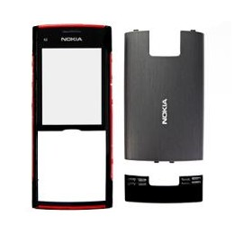 FRONT COVER NOKIA X2 BLACK RED