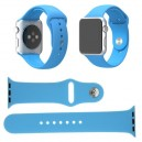 CINTURINO IN SILICONE APPLE WATCH CASSA 42MM SERIE 1 BLU