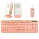 PC DESKTOP KIT 3 IN 1 KEYTECK PINK