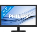 MONITOR PHILIPS LED 21.5' 200CD/M 600:1 VGA HDMI VESA 223V5LHSB2