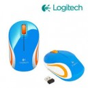 MOUSE WIRELESS LOGITECH M187 USB BLUE
