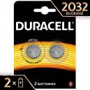 BATTERIA AL LITIO 3 VOLT A BOTTONE CR2032 DURACELL CONF. 2PZ