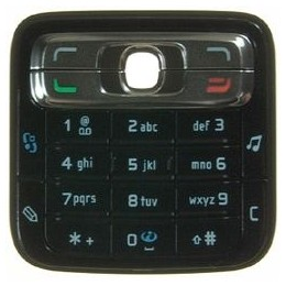 KEYPAD NOKIA N73 BLACK ORIGINAL